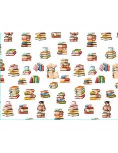 Tela algodon Estampado Libros |Comprar telas por metros - Telas Mercamoda