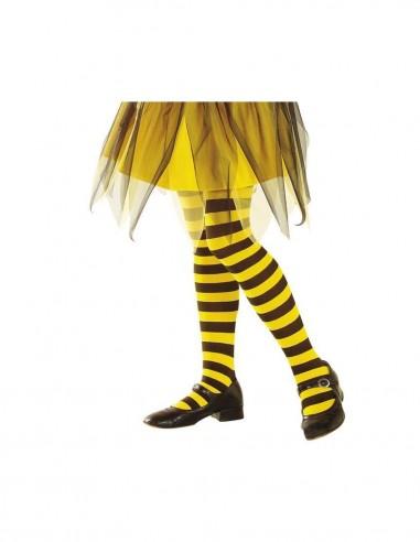 Panty infantil rayas amarillas/negras  Comprar telas online al mejor precio - Telas Mercamoda