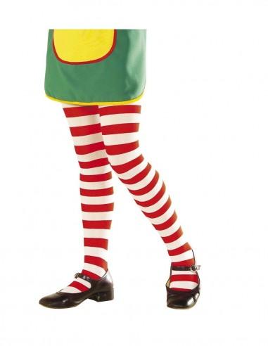 Panty infantil rayas rojas/blancas  Comprar telas online al mejor precio - Telas Mercamoda
