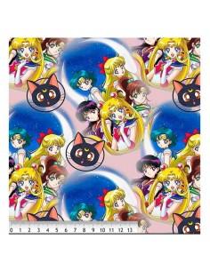 Tela Algodón  Sailor Moon