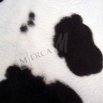 Tela de Pelo de Vaca Blanco y negro