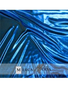 Tela lamé Azul