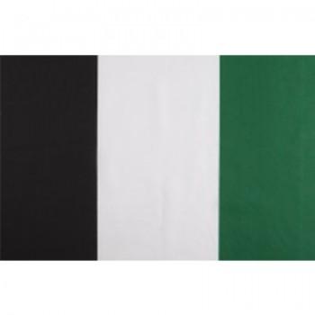 Tela a rayas Negra, Blanca y Verde