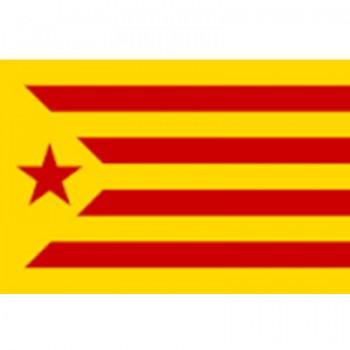 Bandera Estrellada Roja y Amarilla